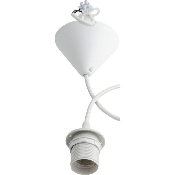 Gelia 4079108941 Lampeoppheng E27, plast Hvit tekstilkabel