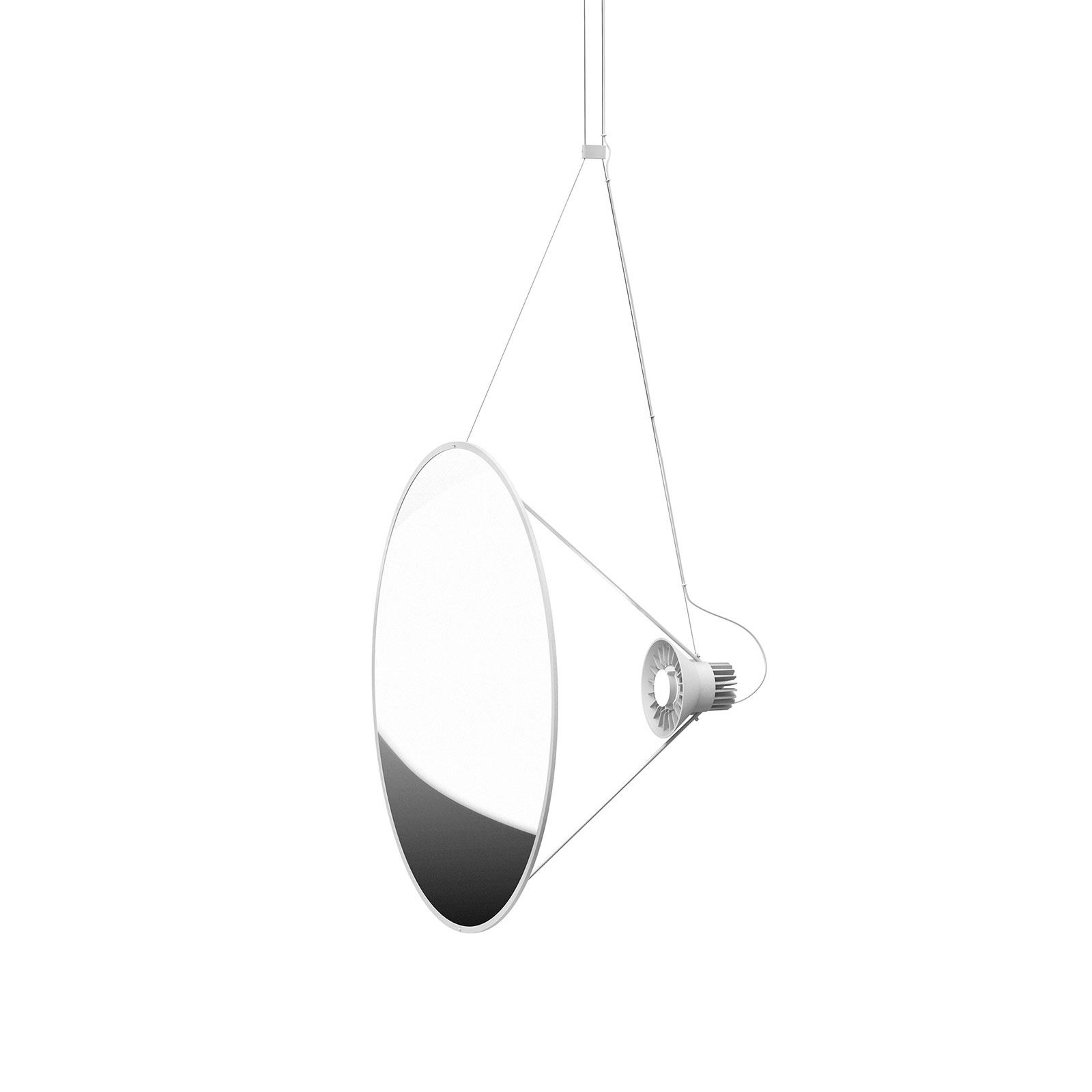 Luceplan Amisol -LED-riippuvalaisin Ø 75 cm hopea