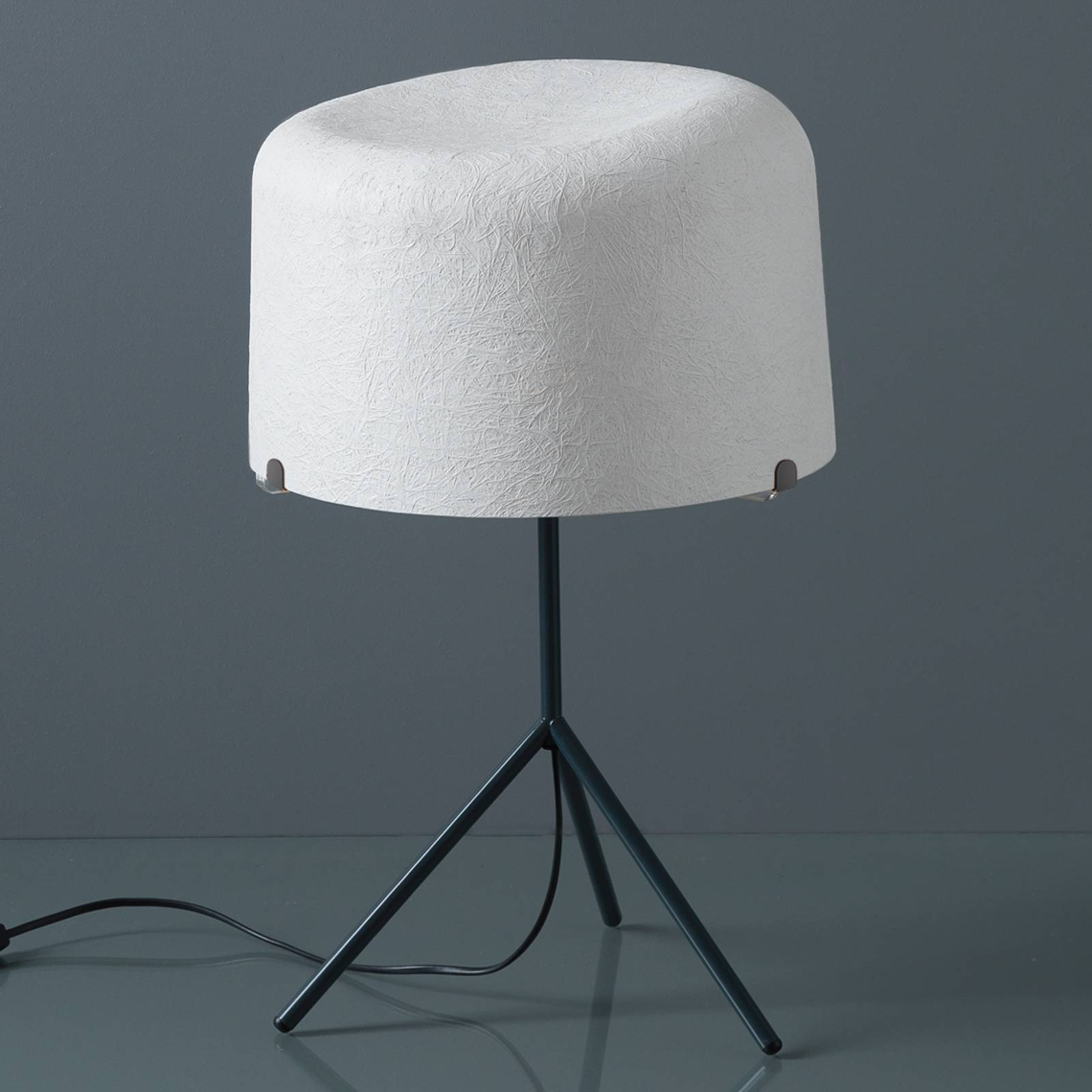 Pöytävalaisin Ola lasikuitua, valkoinen, K 53 cm