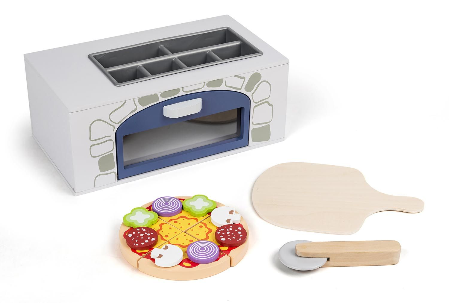 3-2-6 - Wooden pizza oven with accessories (68228)