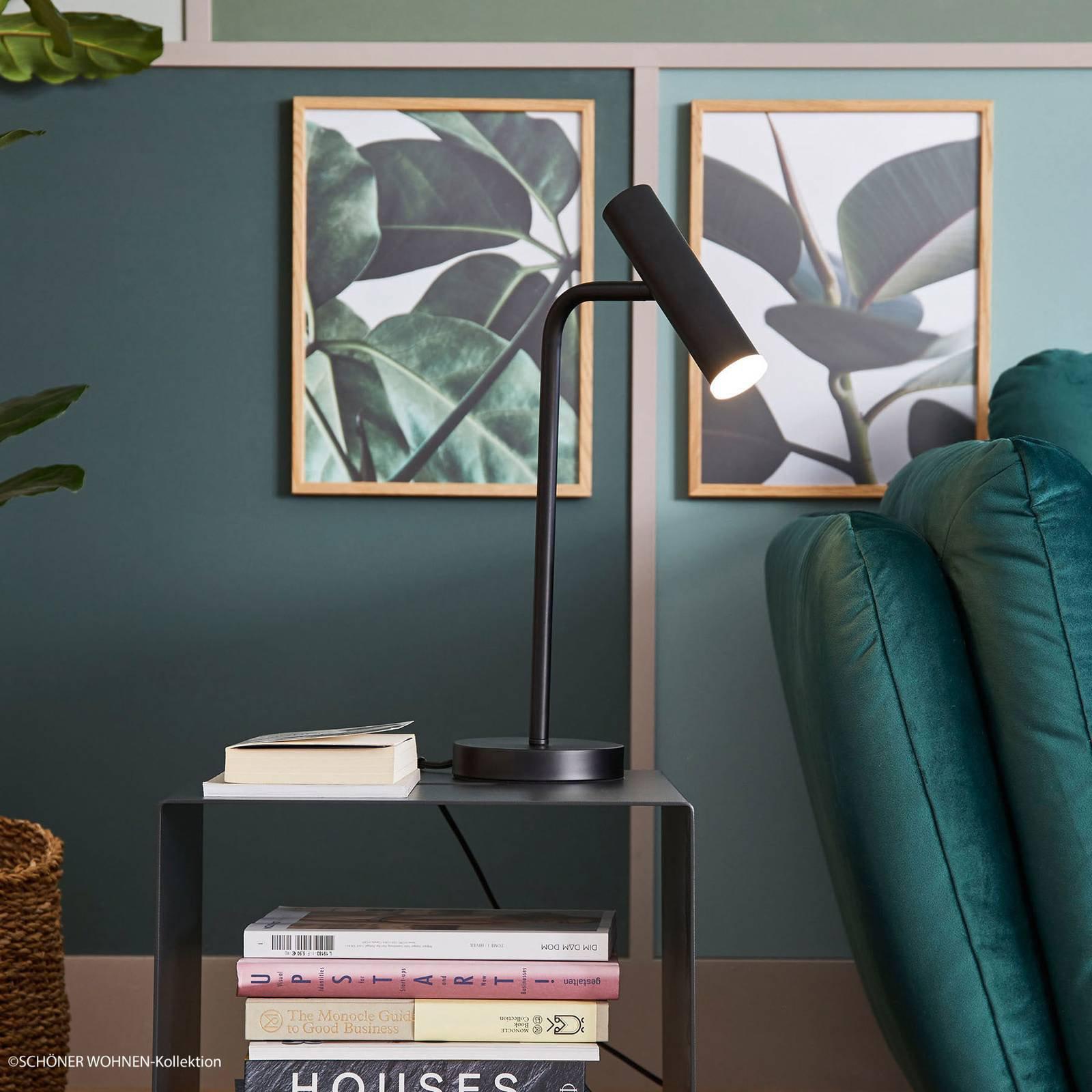 Schöner Wohnen Stina LED-bordlampe, svart