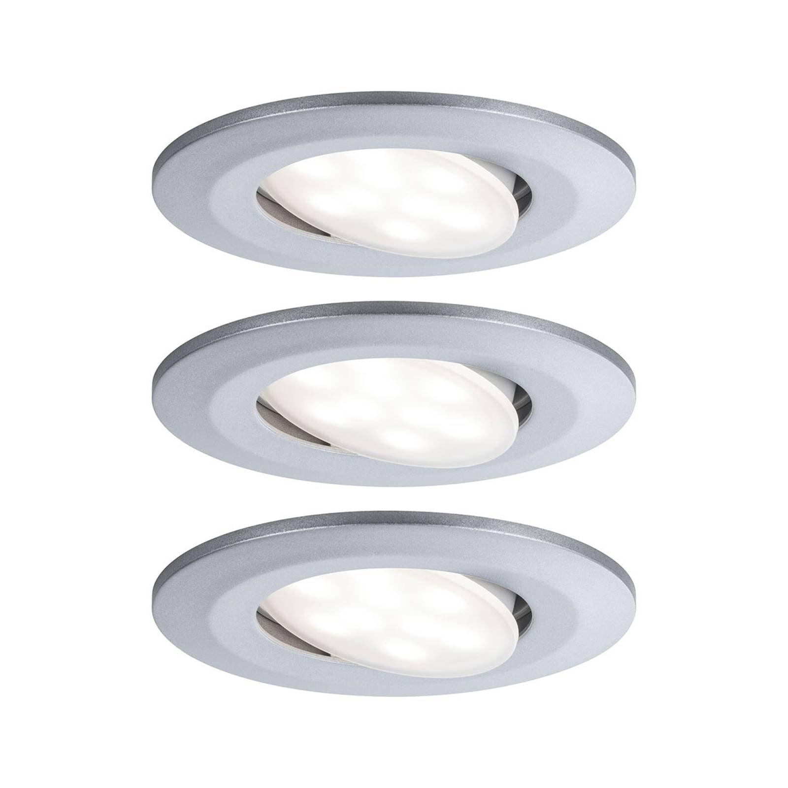 Paulmann Calla LED-downlight dimbar krom 3-pkn.
