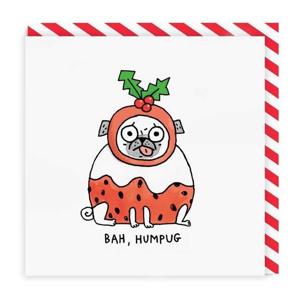 Bah Humpug Square Christmas Card