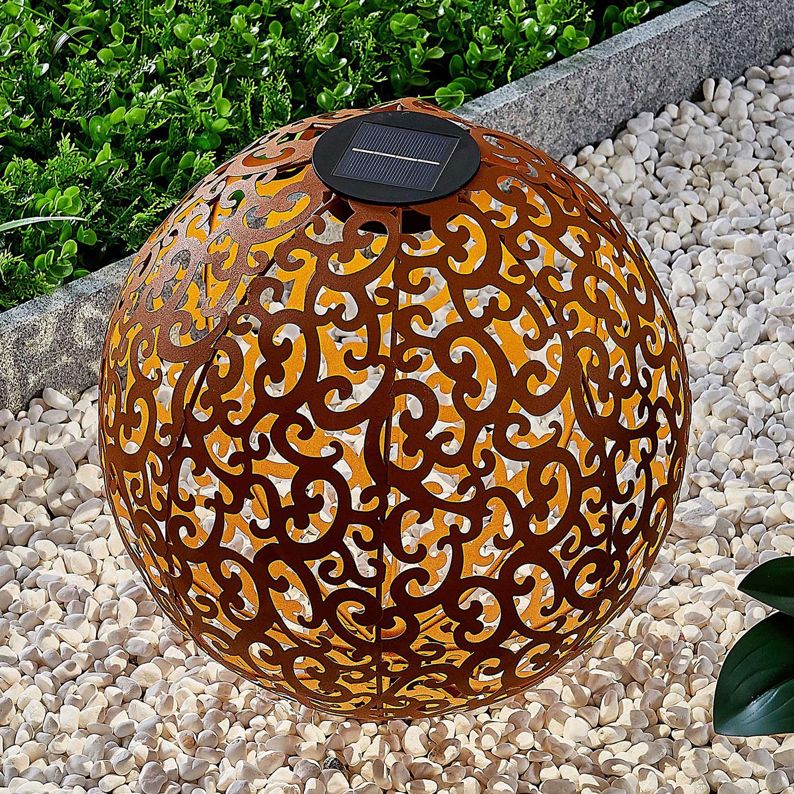 Aurinkokäyttöinen LED-lamppu Eduta ruosteenväri