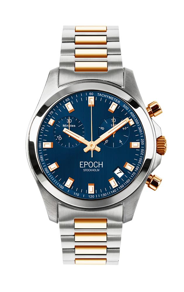 Herrklocka EPOCH President Chronograph Blue Gold EP3306
