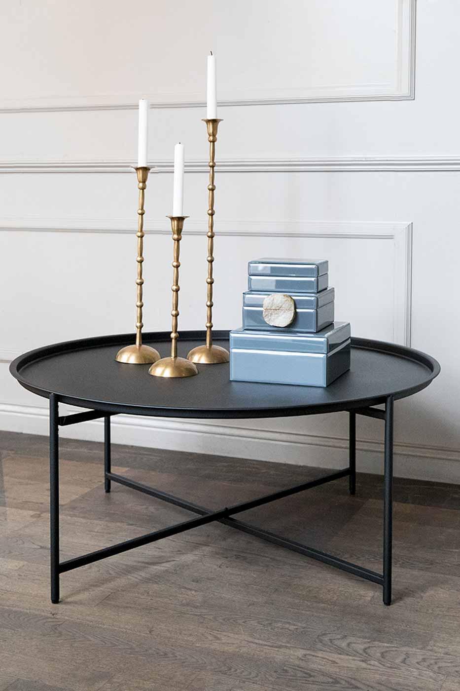 Soffbord Geneve 95 cm svart