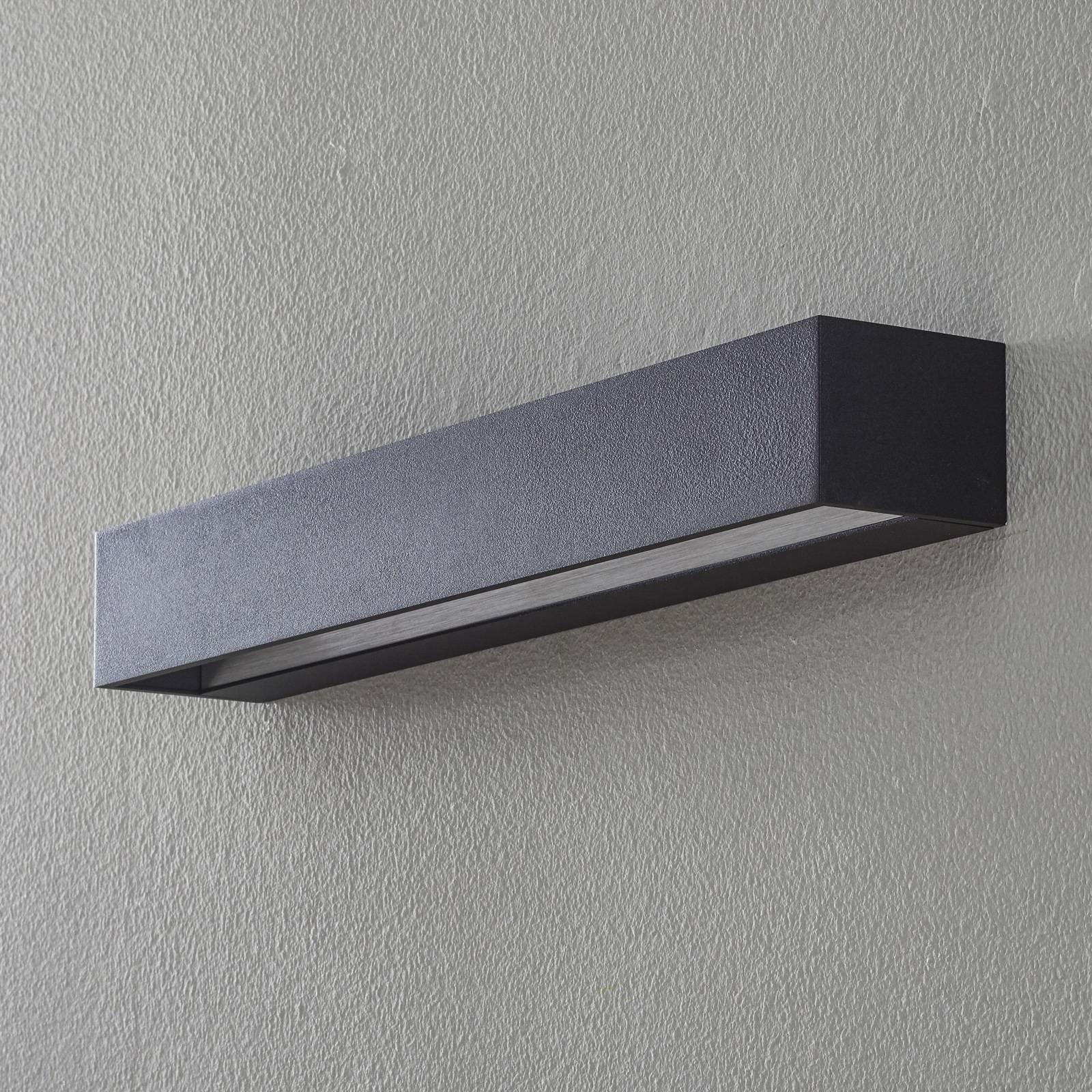 BEGA Studio Line vegglampe bred svart/alu 50 cm