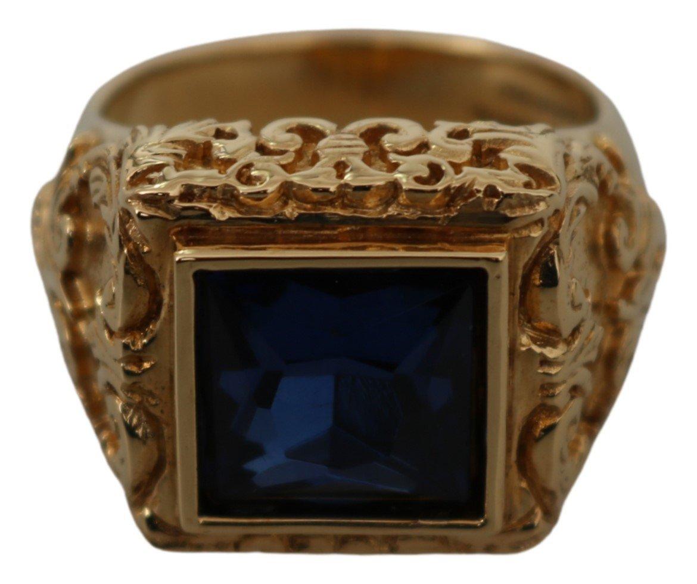 Dolce & Gabbana Women's Brass Crystal PIETRA Ring Gold SMY100133 - EU60 | US10