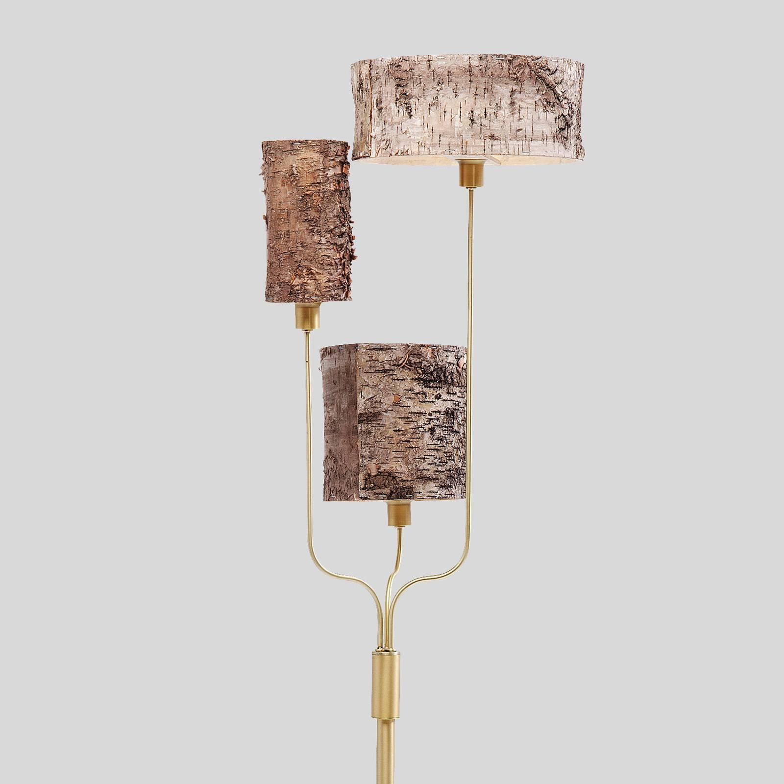 KARE Corteccia gulvlampe med bjørkenever