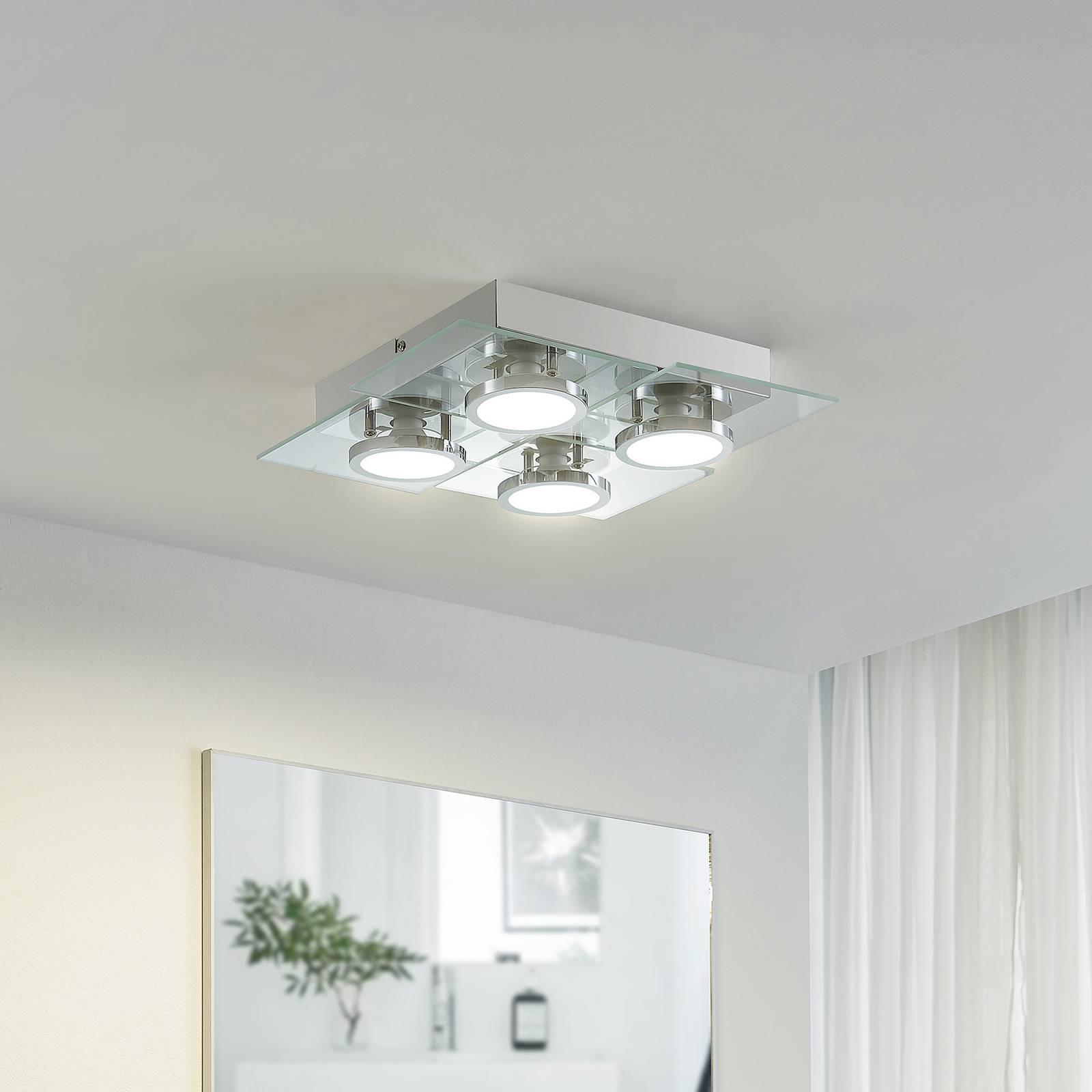 Lindby Imiria -LED-kattovalaisin, neliömäinen