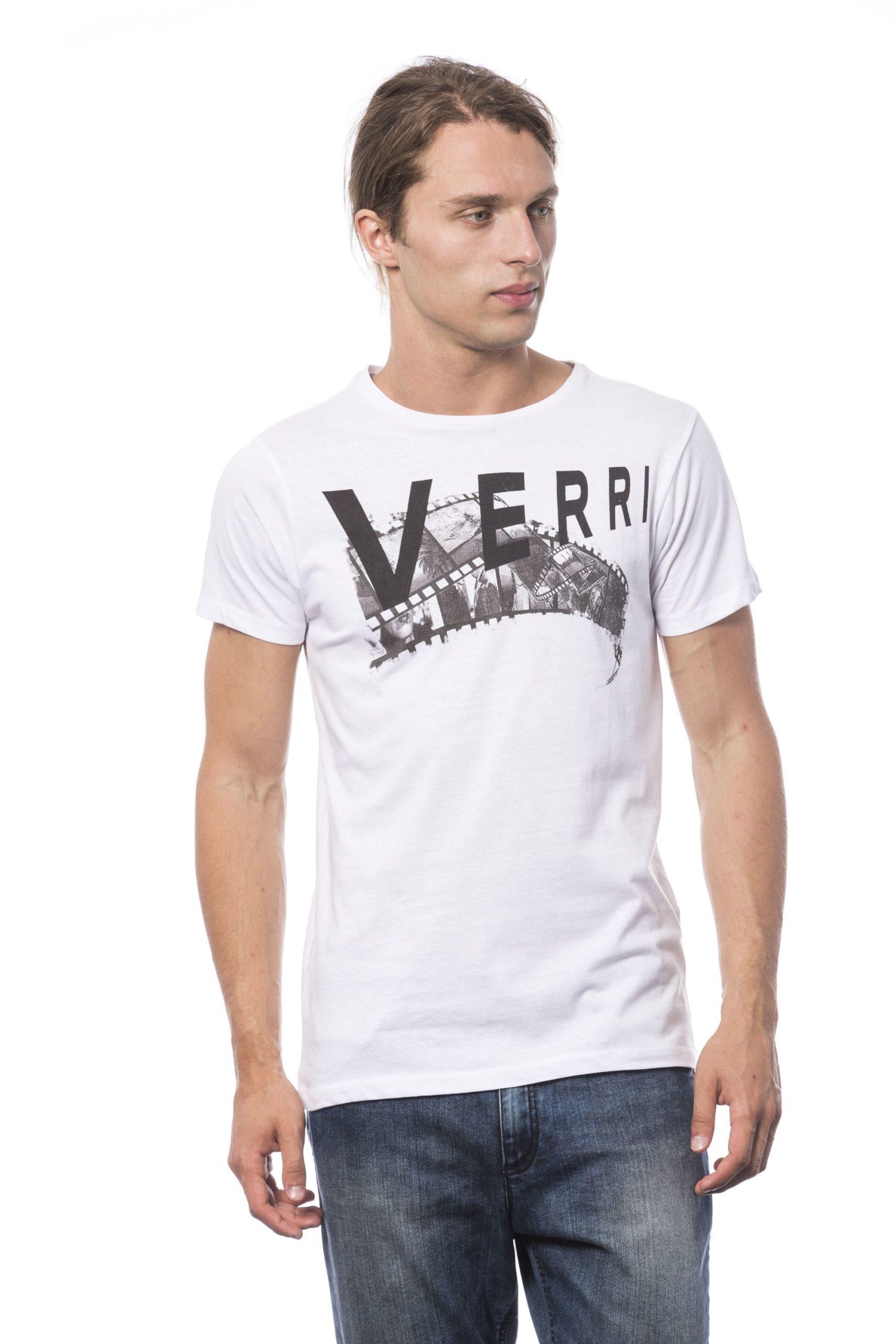 Verri Men's Bianco T-Shirt White VE681327 - S