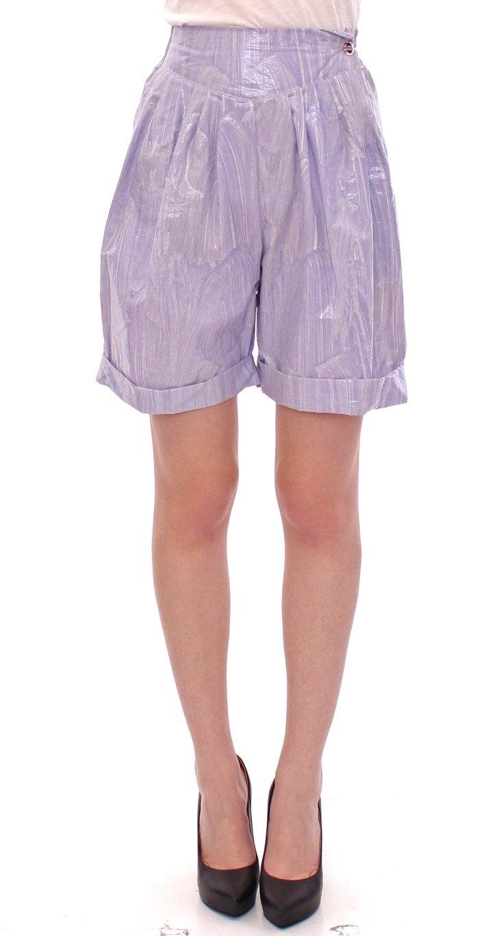 Licia Florio Women's Above-Knee Wrap Shorts Purple GSS10161 - IT44 L