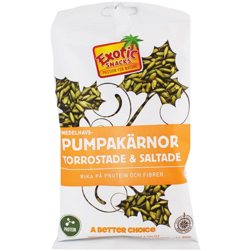 Pumpakärnor Torrostade & Saltade 80g - 44% rabatt