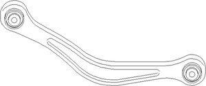 Stång/stag, hjulupphängning, Fram, Bakaxel, båda sidor, Upptill
