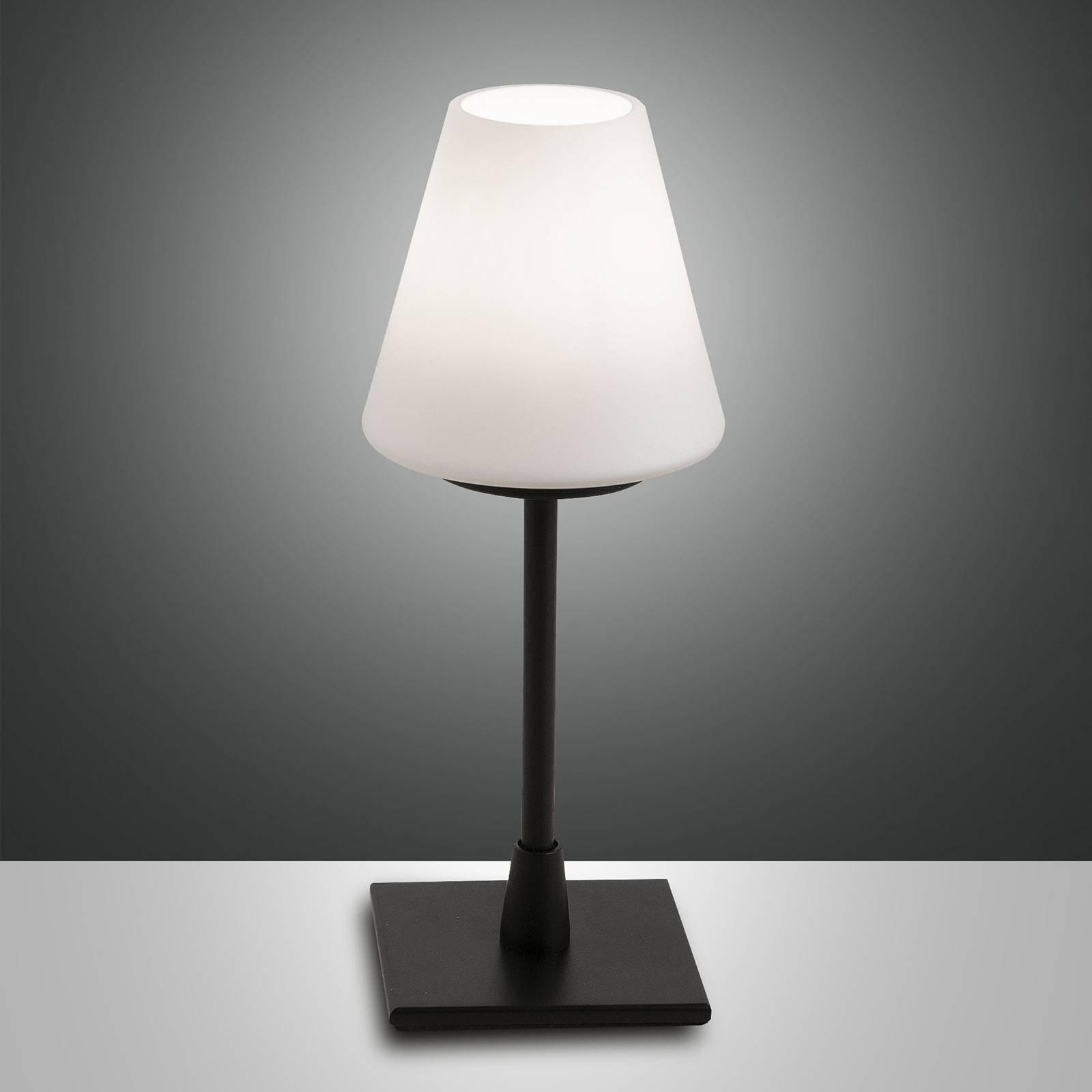 LED-bordlampe Lucy med touchdimmer, svart