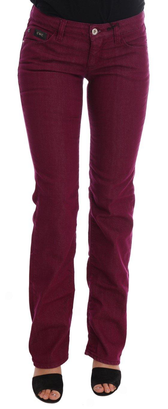 Costume National Women's Wash Cotton Stretch Denim Jeans Red SIG30126 - W26