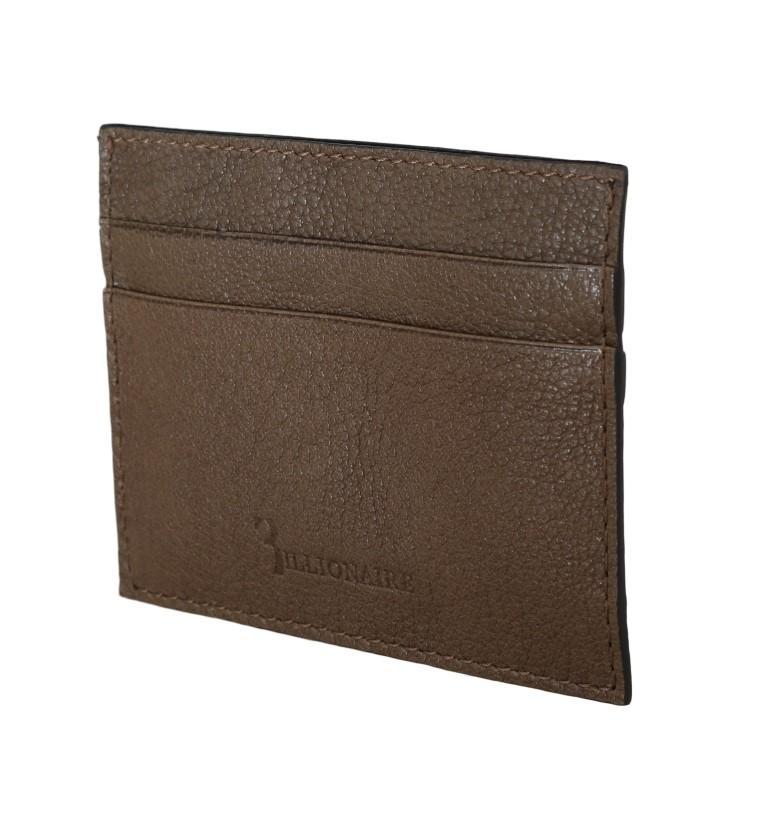 Billionaire Italian Couture Men's Leather Bifold Wallet Brown VAS1448