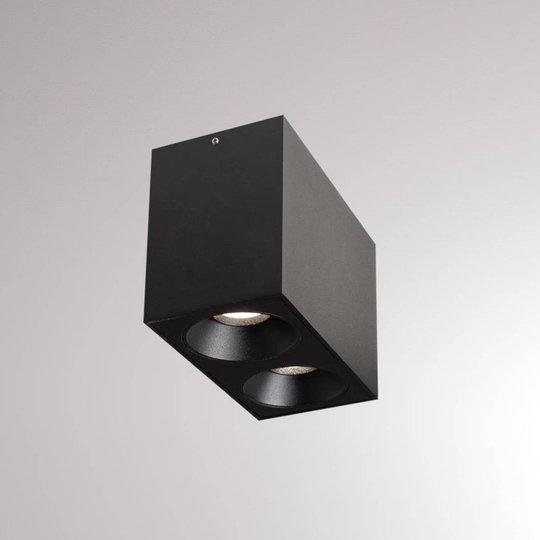LOUM Atus Square LED-taklampe 2 lys svart