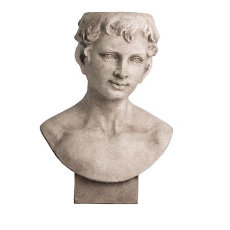 Kruka Statue Ansikte Grå