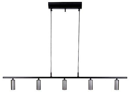 Cato LED 5-Skinne Svart/Oksidert grå