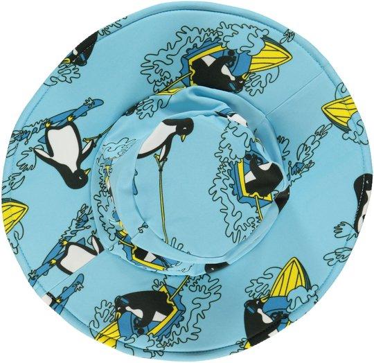 Småfolk Solhatt Surf Penguin, Air Blue XS
