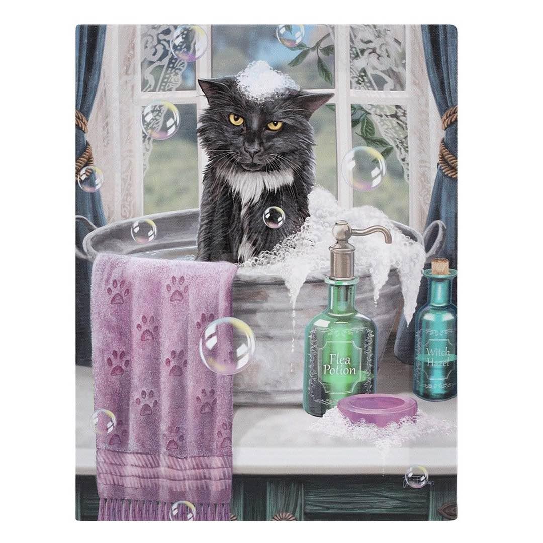 Katt Canvastavla av Lisa Parker