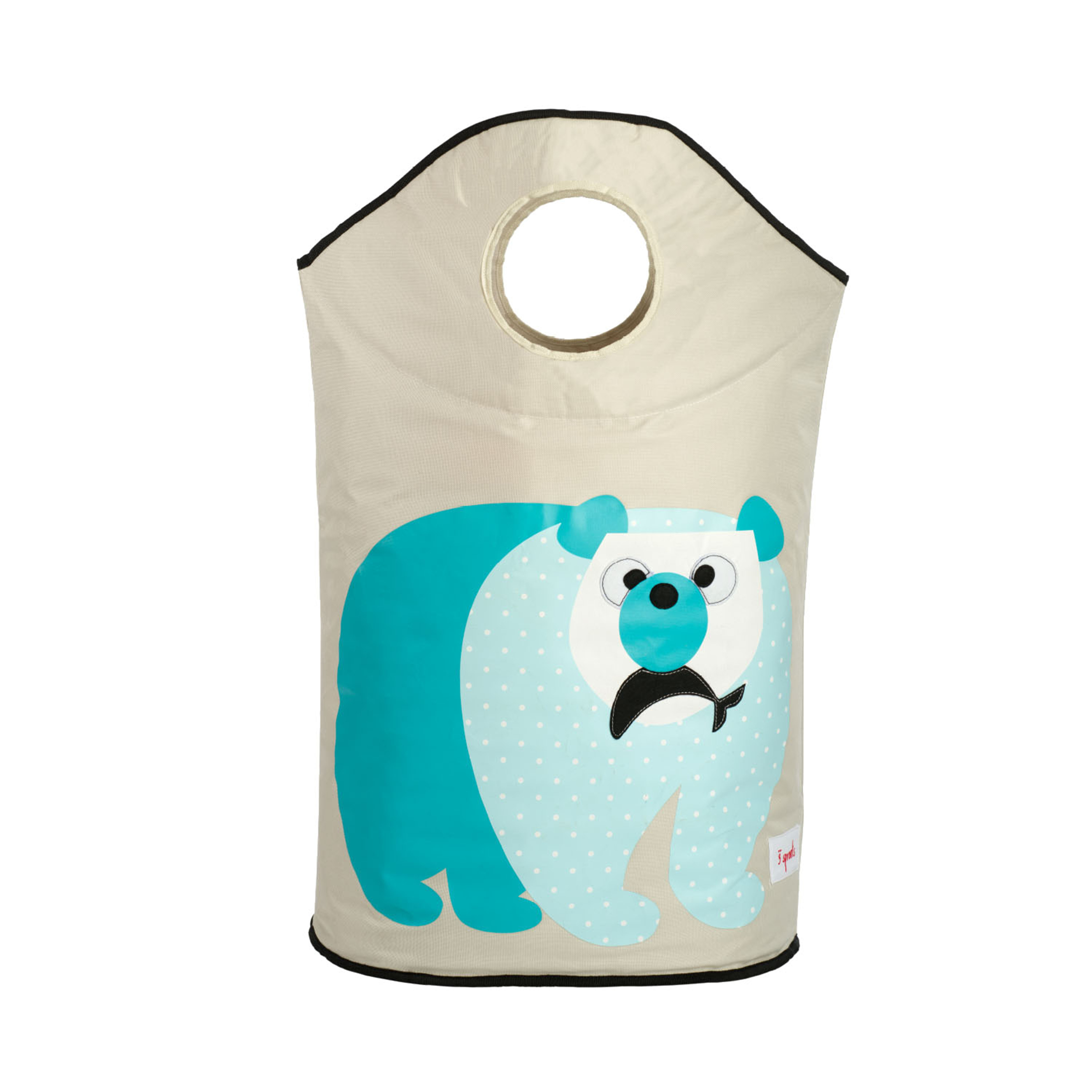 3 Sprouts - Laundry Hamper - Blue Polar Bear