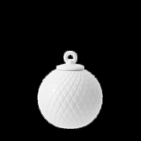 Rhombe Dekorasjonskule Ø7 cm Hvit Porselen