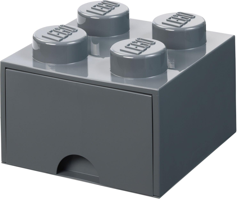 LEGO Säilytyslaatikko Vetolaatikolla 4, Dark Grey