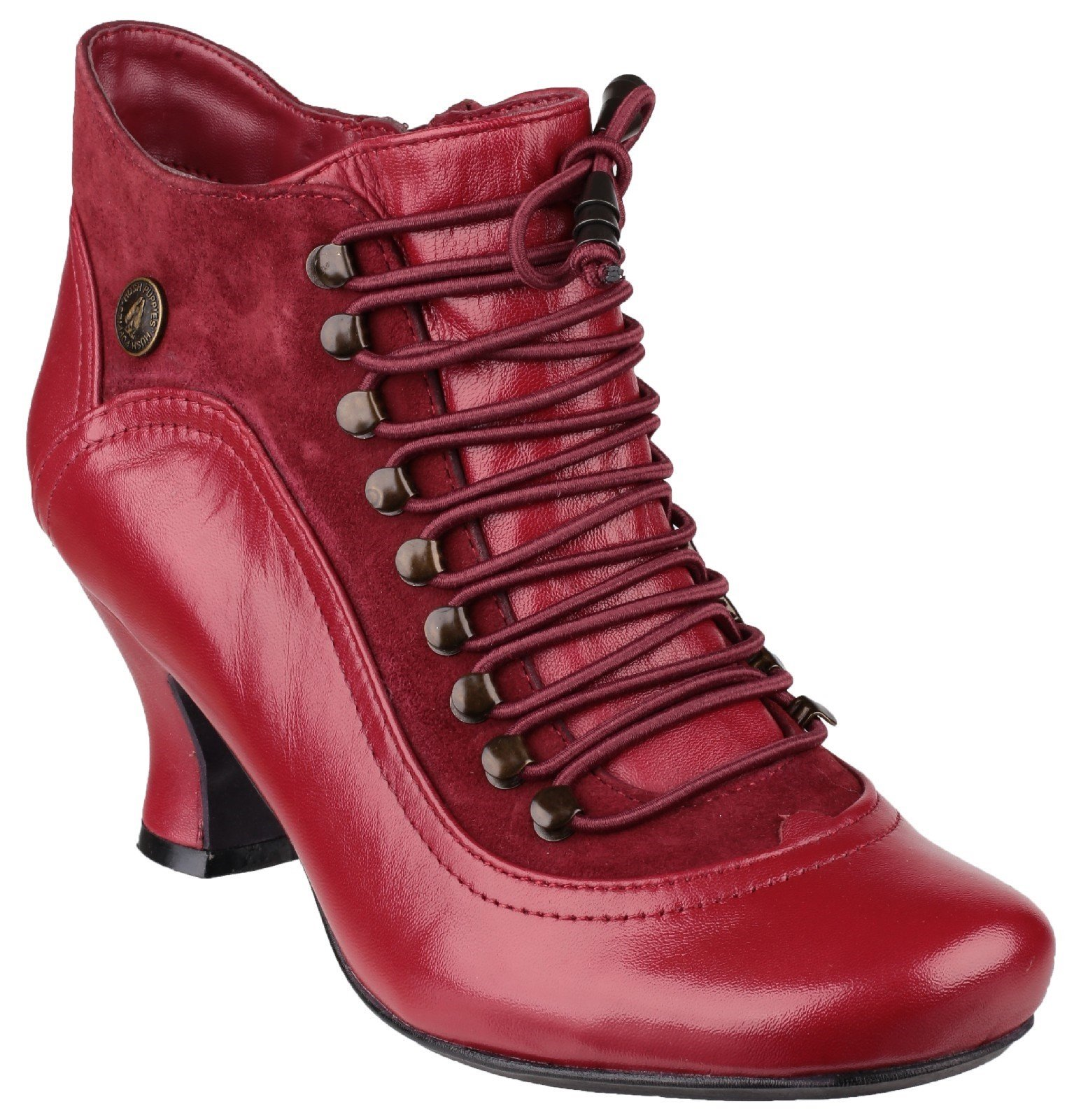 Hush Puppies Women's Vivianna Lace Up Heeled Boot Various Colours 24077 - Red 3