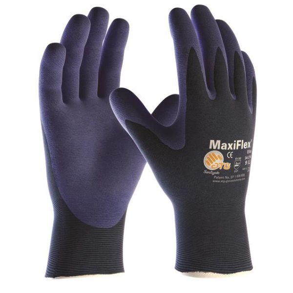 ATG MaxiFlex ELITE 34-274 Monteringshanske blå Størrelse 5
