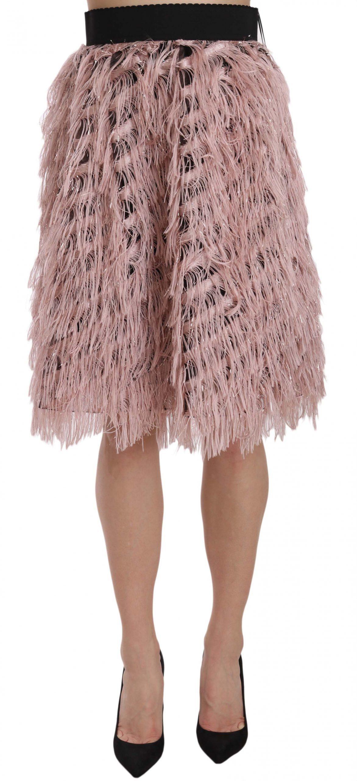 Dolce & Gabbana Women's Skirt Gold And Pink SKI1178 - IT38|XS