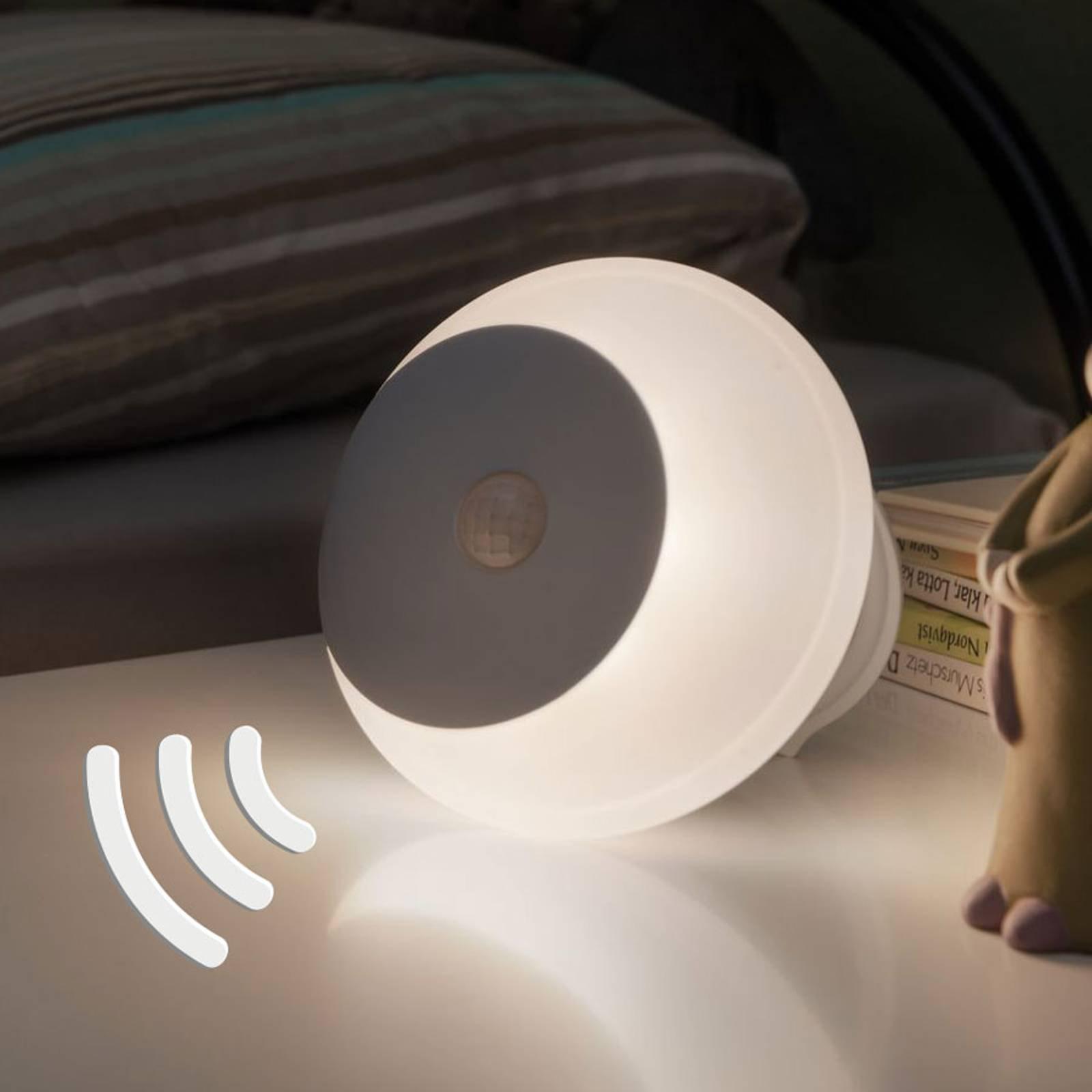 Paulmann Viby LED-nattlys, mobil, rund