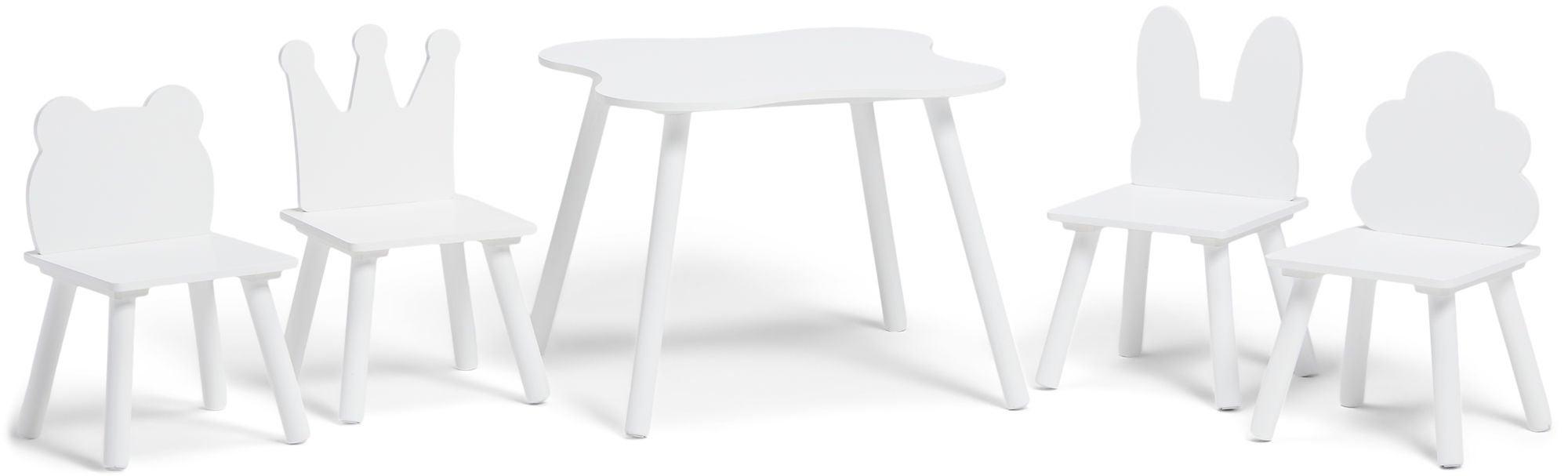 Alice & Fox Pöytä ja Tuoli Eläin, Valkoinen