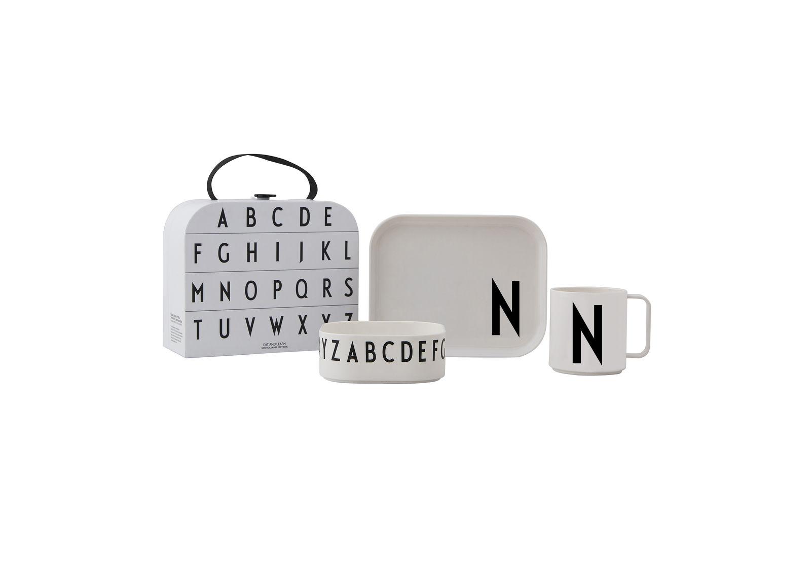 Design Letters - Gift Box Tritan Eating Set - N (20201500N)