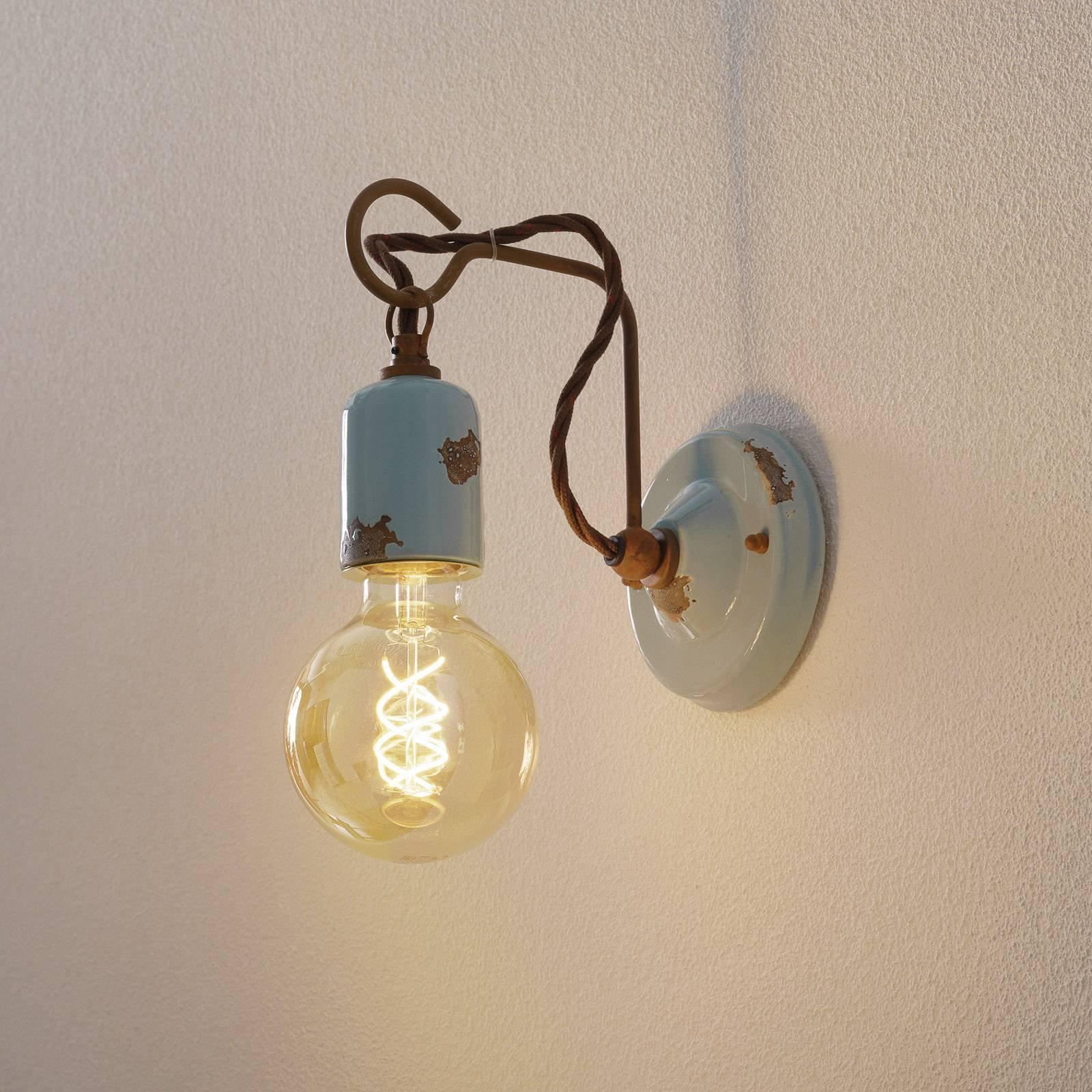 Vegglampe C665 i vintagestil turkis