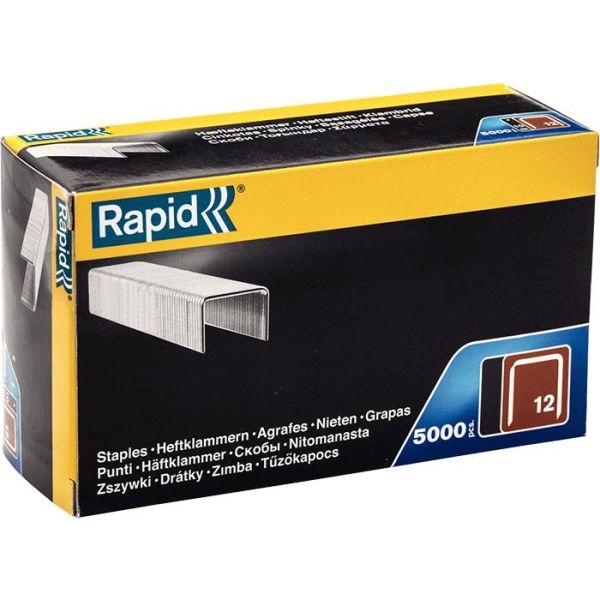 Rapid Nr 12 Bredtrådstift 6 mm, 5000-pakning