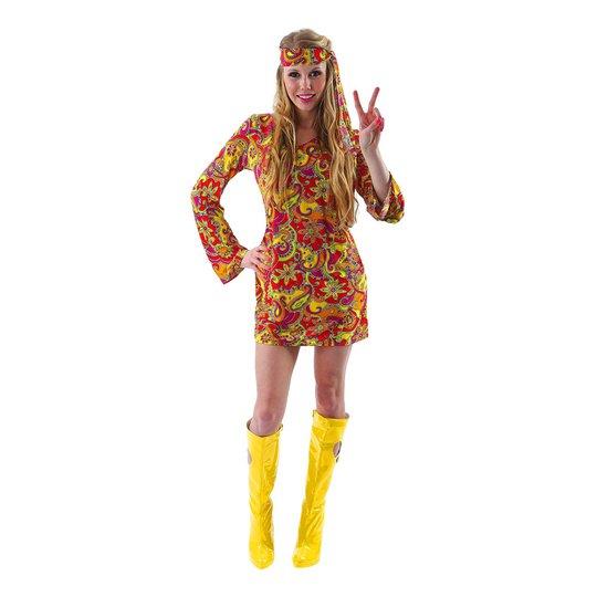 Kvinnlig Hippie Budget Maskeraddräkt - Small
