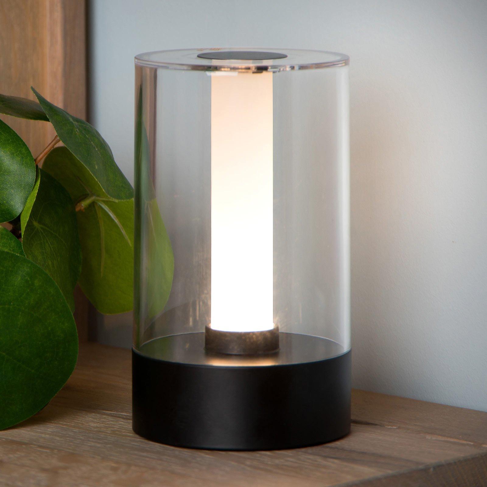 Tribun bordlampe med batteri og dimmer svart