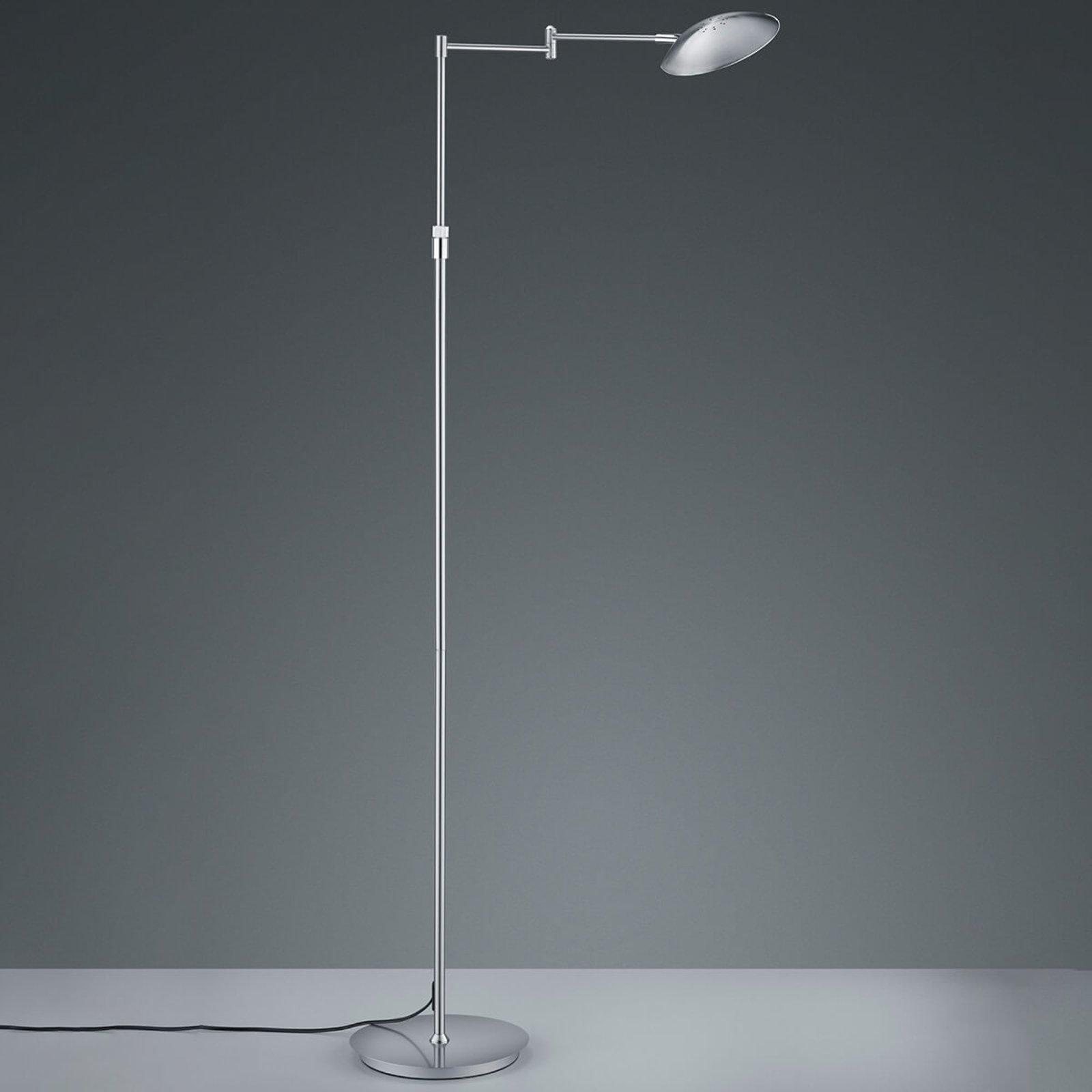 Calcio LED-gulvlampe, justerbar, matt nikkel