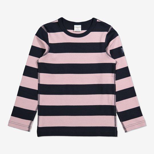 Stripet genser lyselilla