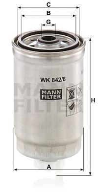 Polttoainesuodatin MANN-FILTER WK 842/8