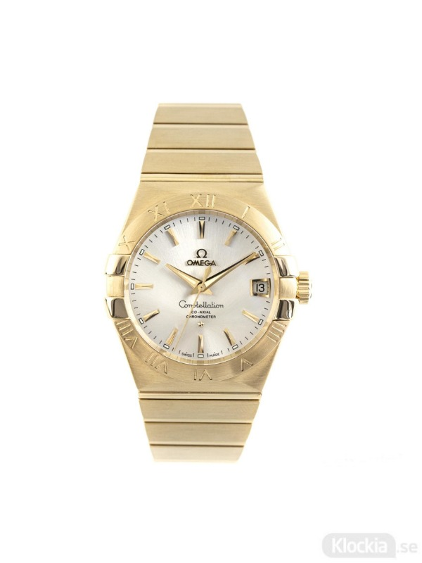 Begagnad Omega Constellation 18c Gold Co-Axial Chronometer 123.50.38.21.02.002