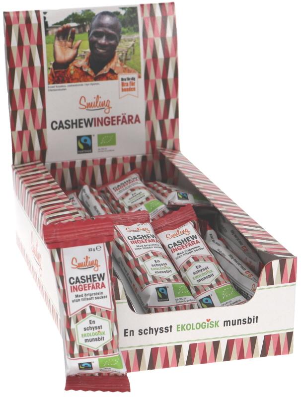 Cashew- & Ingefärabars 24-pack - 43% rabatt