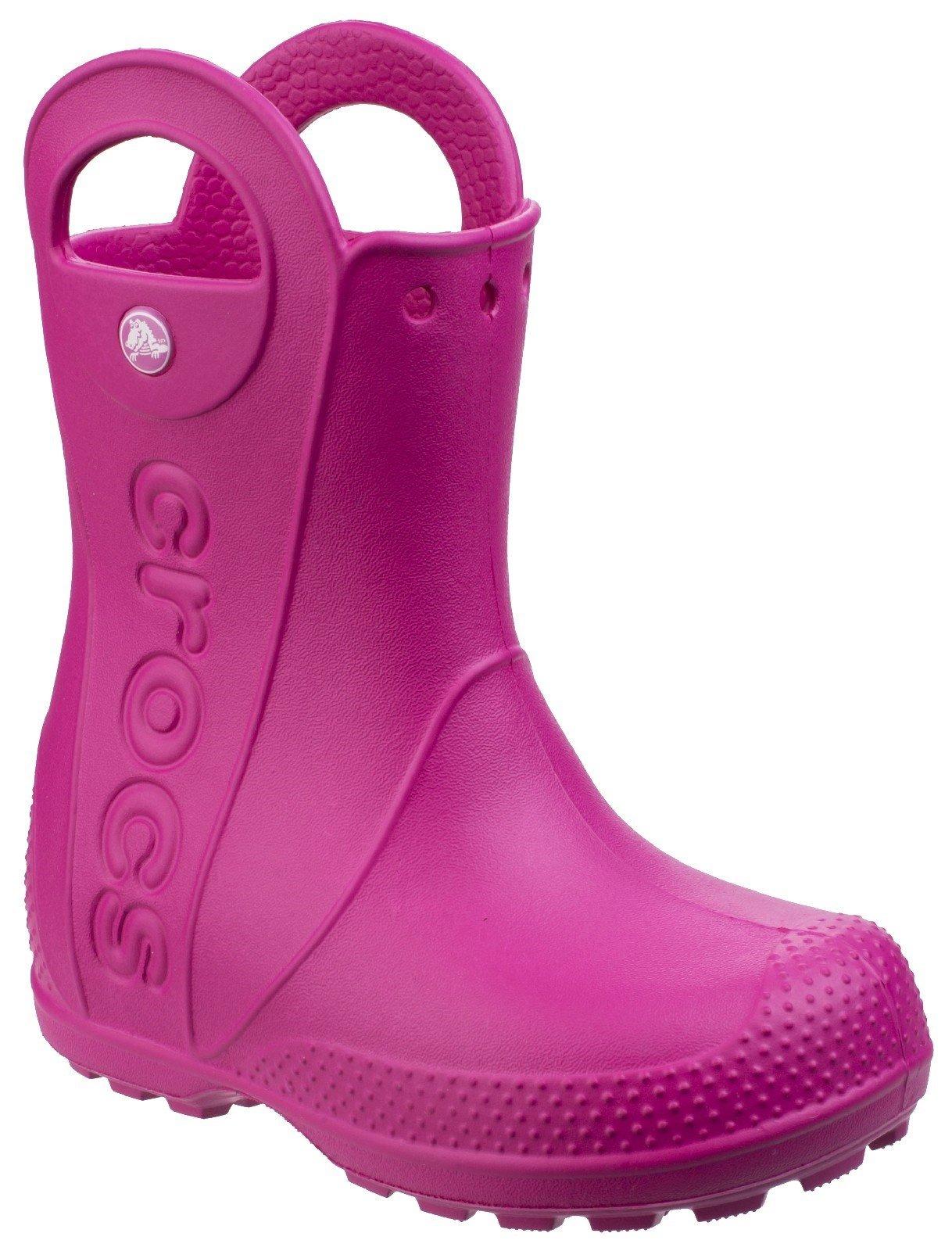 Crocs Kid's Rain Boot Various Colours 21080 - Candy Pink 6 UK