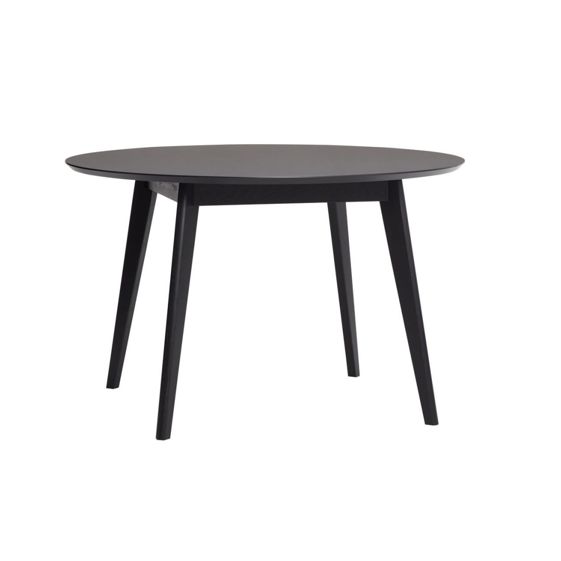 Matbord runt 120 cm svart Hubsch