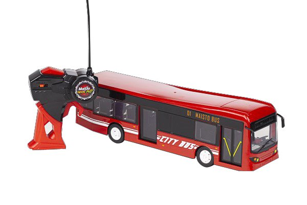 Maisto - City Bus R/C 33cm 27Mhz - Red (140040)