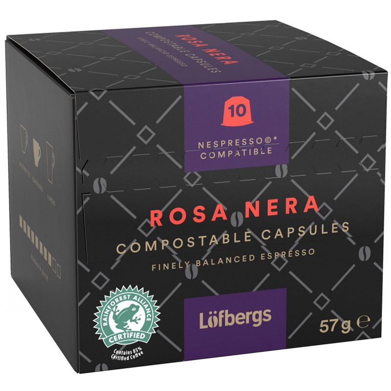 """Kaffekapslar """"Rosa Nera"""" 57g - 37% rabatt"""