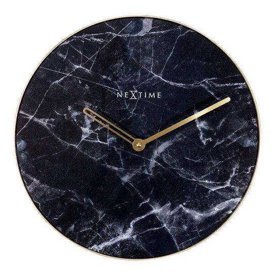 NeXtime - Marble Väggklocka Marmor 40 cm Svart