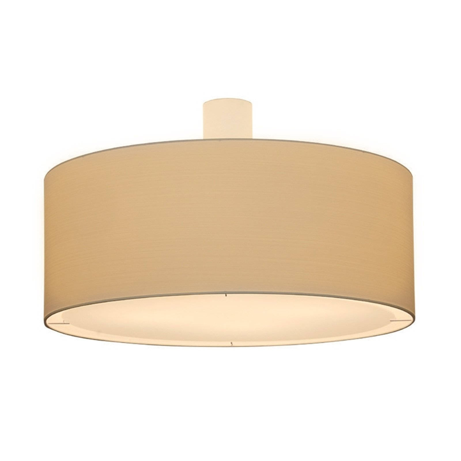Kremfarget taklampe LIVING ELEGANT Ø 80 cm